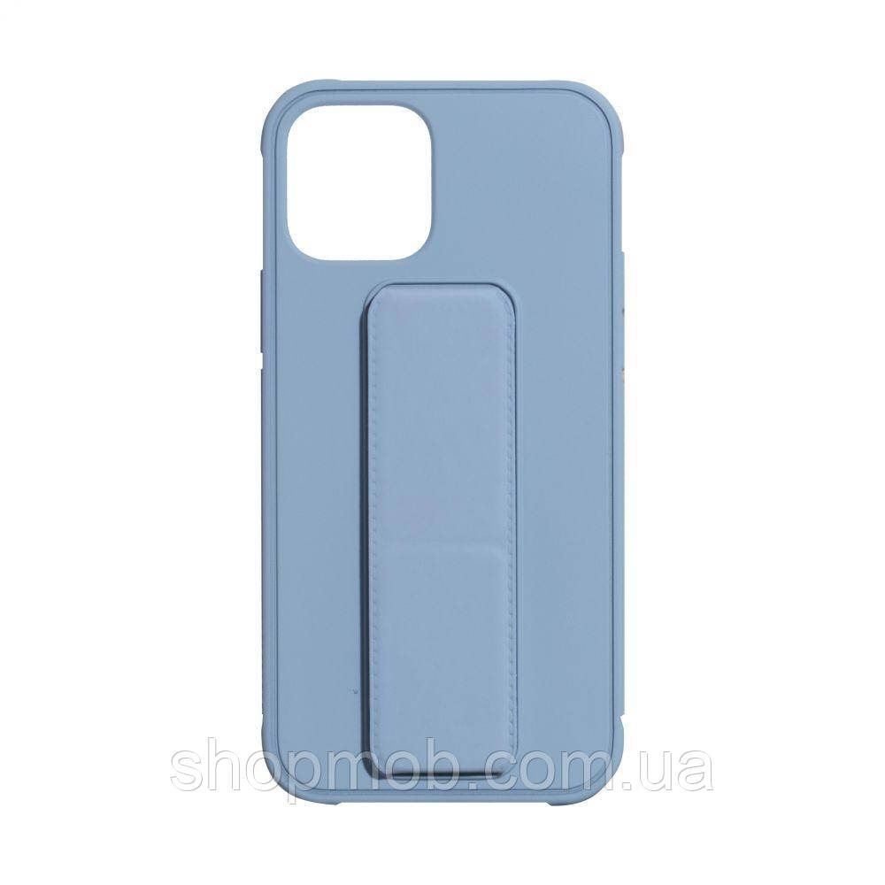 Чехол Bracket for Apple Iphone 12 (6.7) Цвет Light Blue