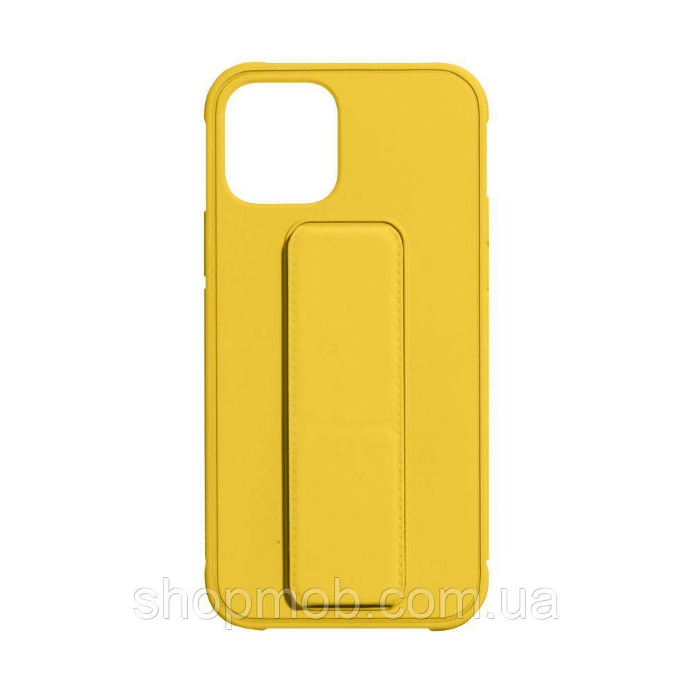 Чехол Bracket for Apple Iphone 12 (6.7) Цвет Yellow