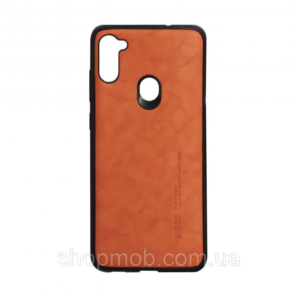 Чехол Leael Color for Samsung A11 / M11 Цвет Оранжевый