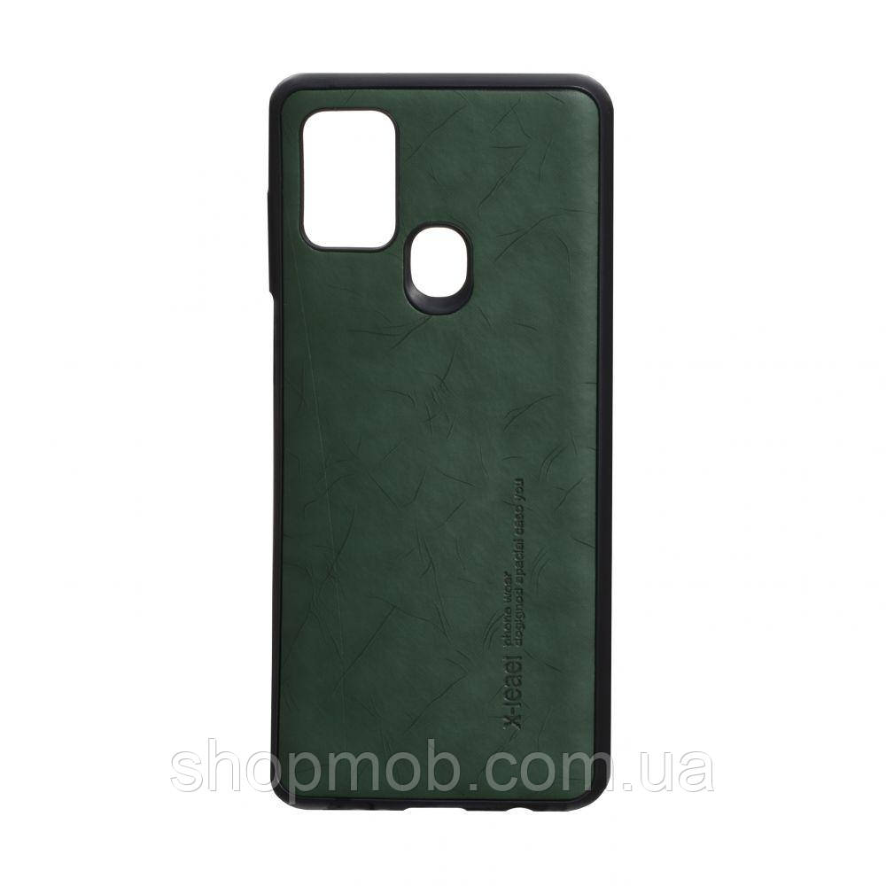 Чехол Leael Color for Samsung A21s Цвет Зелёный