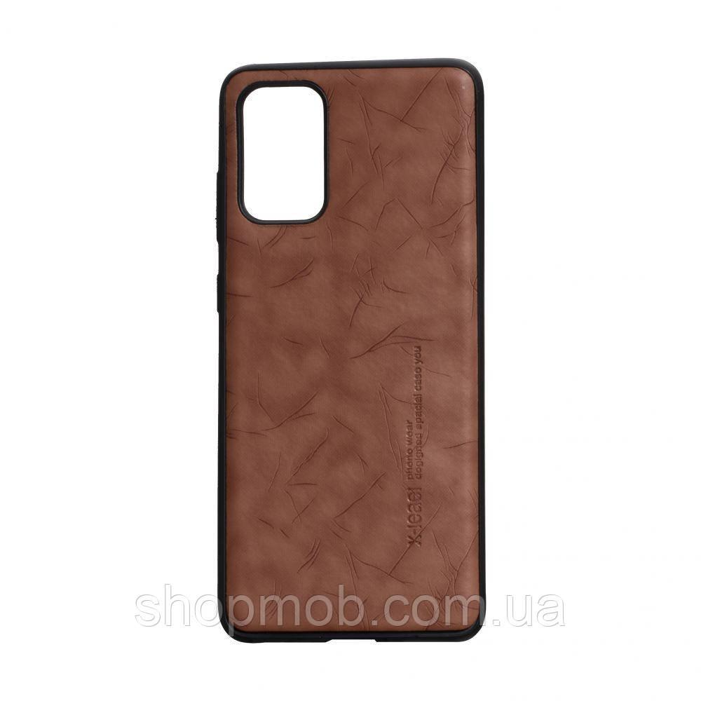 Чехол Leael Color for Samsung S20 Plus Цвет Коричневый
