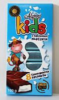 Шоколадные батончики Alpini Kids  сливочный (8 шт) (100 г)