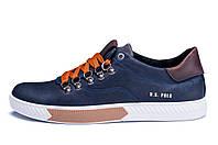 Мужские кожаные кеды Polo Ralph Lauren Blue р. 44 45
