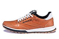 Мужские кожаные кроссовки Reebok Classic brown (реплика) р. 40 41 42 43 44 45