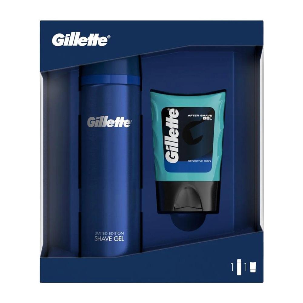 Подарочный набор Gillette Fusion (Гель для бритья 200мл + Гель после бритья 75мл) (7702018511266)