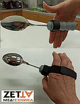 Держатель для специальных столовых приборов, адаптированных для инвалидов и пожилых с тремором рук, фото 3