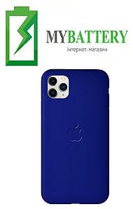 Чехол Silicone Case original (чехол-бампер) iPhone 11 синий (36)