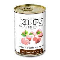 Паштет для собак KIPPY,  с кусочками мяса, ягненок 400 г