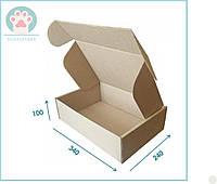 Коробка самозбірна коричнева картонна 340x240x100 для пакування подарунків офомлення товарів цукерок -10 шт/уп