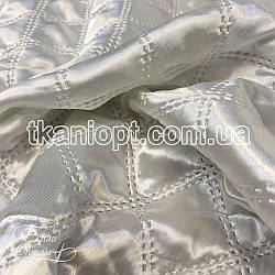 Ткань Атлас стеганный (белый)