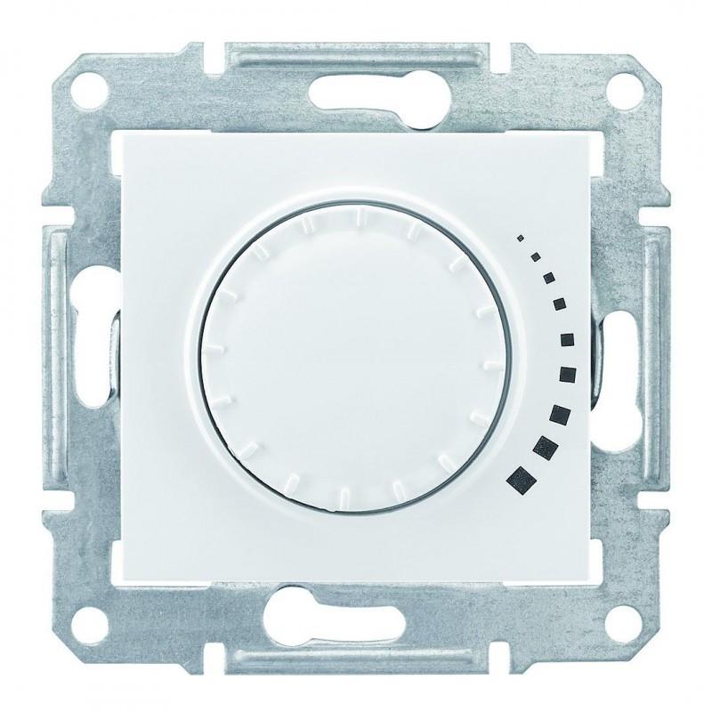 Светорегулятор поворотный индуктивный 230 В, 60-325 Вт/ВА Белый, Sedna SDN2200421