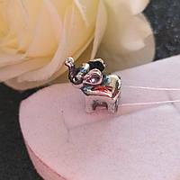 Серебряный кулон шарм на браслет Пандора Слон
