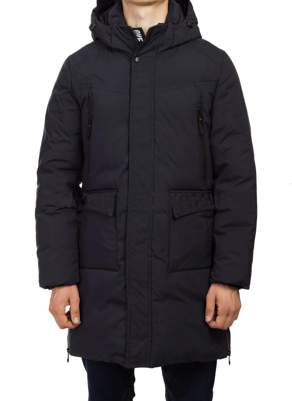 Мужская удлиненная зимняя плотная куртка