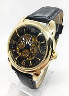 Чоловічі механічні годинники Rolex (Ролекс), золото з чорним циферблатом ( код: IBW511YB )
