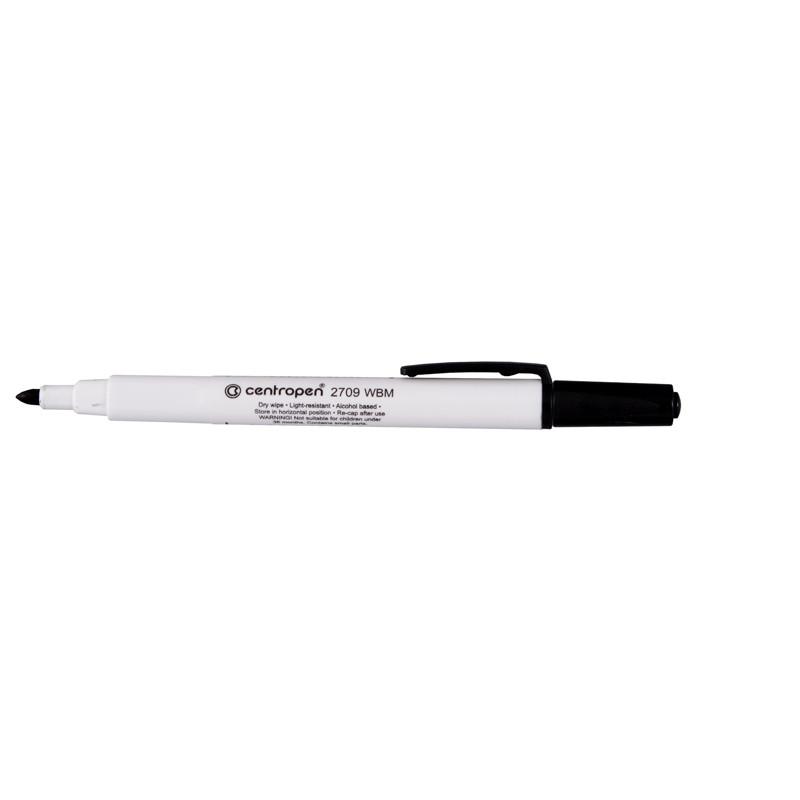 Маркер Centropen  Board 2709/01 1-2 мм круглый черный