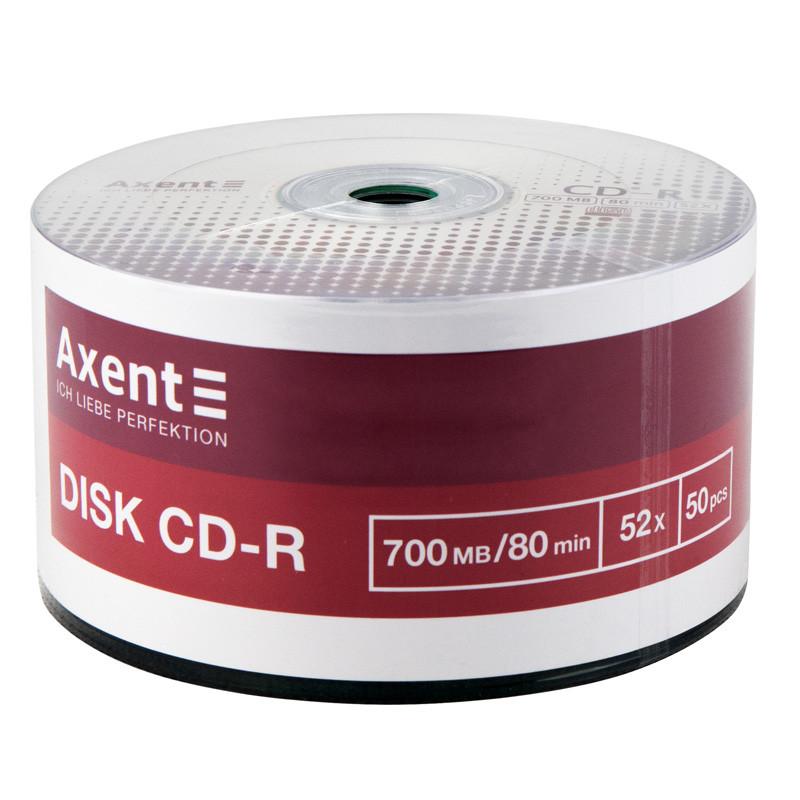 Axent CD-R 700MB / 80min 52X, 50 шт, масса 8102-A