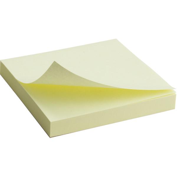 Блок бумаги Axent с клейким слоем 75x75мм, 100л., Желтый  2314-01-A