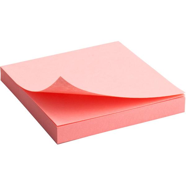 Блок бумаги Axent с клейким слоем 75x75мм, 100л., розовый  2314-03-A