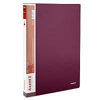 Дисплей-книга Axent 40 файлов, бордовая    1040-04-A