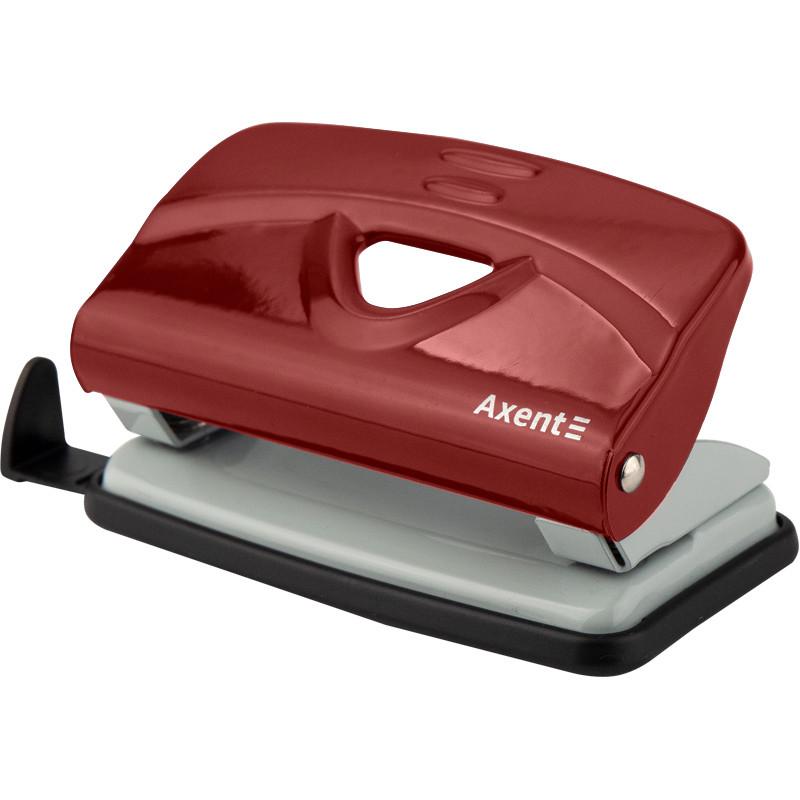 Дырокол Axent EXAKT-2 металлический, 10л, красный   3910-06-A