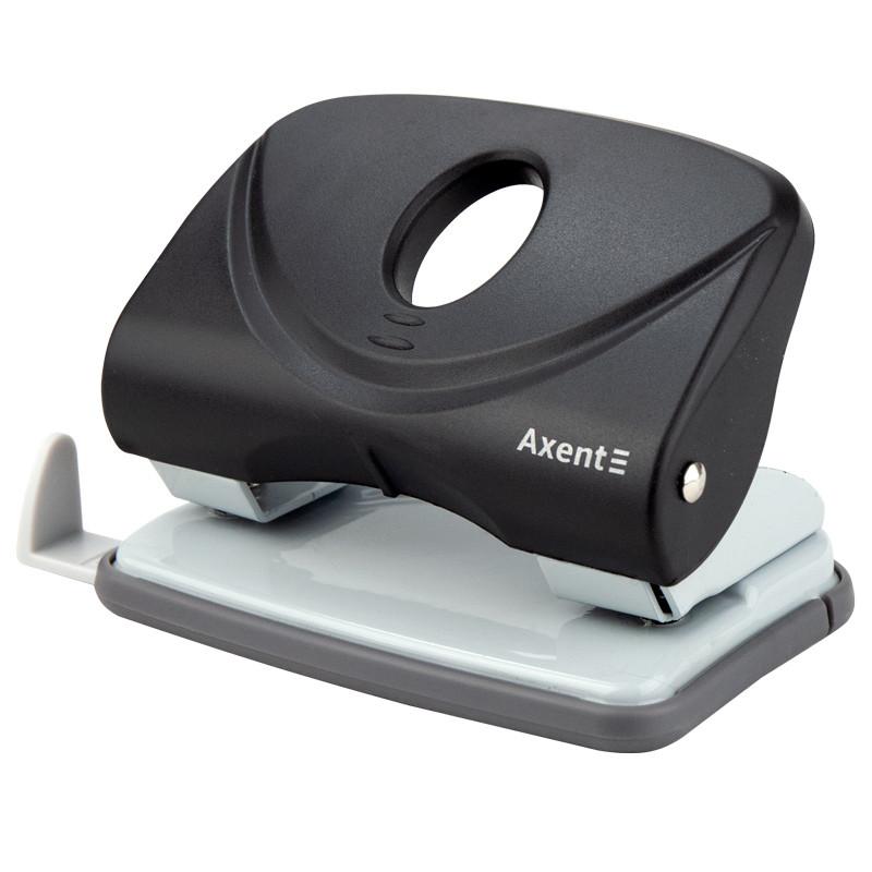 Дырокол Axent Welle-2 с пласт. верхом, 20 л, черный  3820-01-A