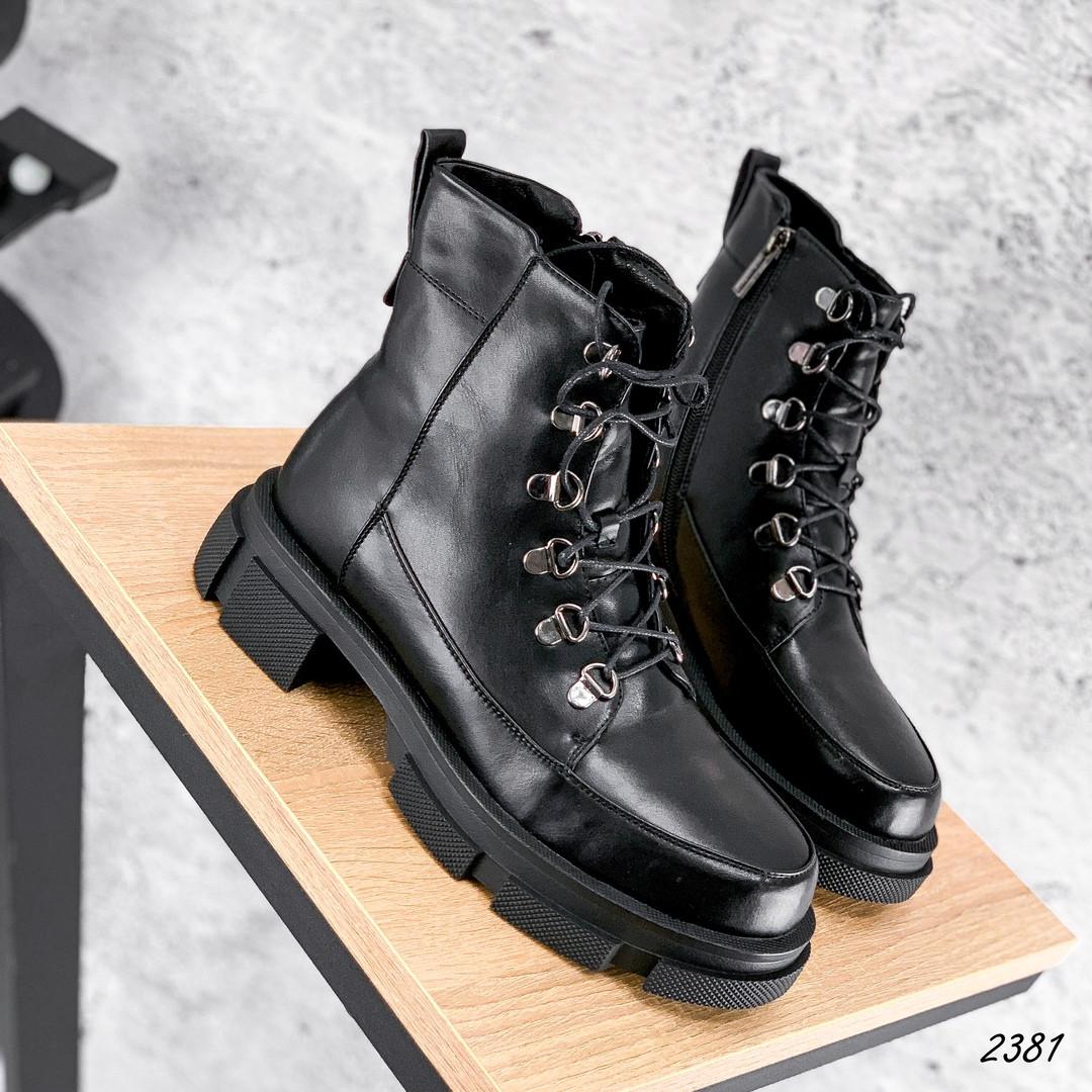 Ботинки женские черные на зиму