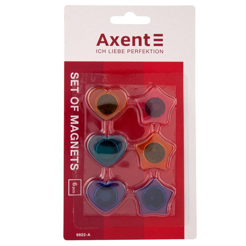 Набор Axent фигурных магнитов 30мм, 6 шт.  9822-A