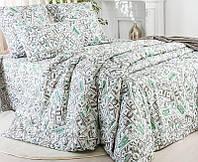 """Семейное постельное белье евро-размер с двумя пододеяльниками (6468) хлопок """"Ранфорс"""", фото 1"""