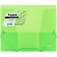 Папка Axent на резинках В5, прозрачная, зеленая  1505-26-A