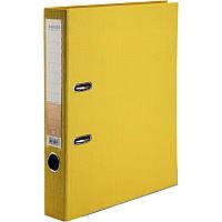 Папка-регистратор Axent Prestige+ A4 с двусторонним покрытием, 5 см, жёлтая