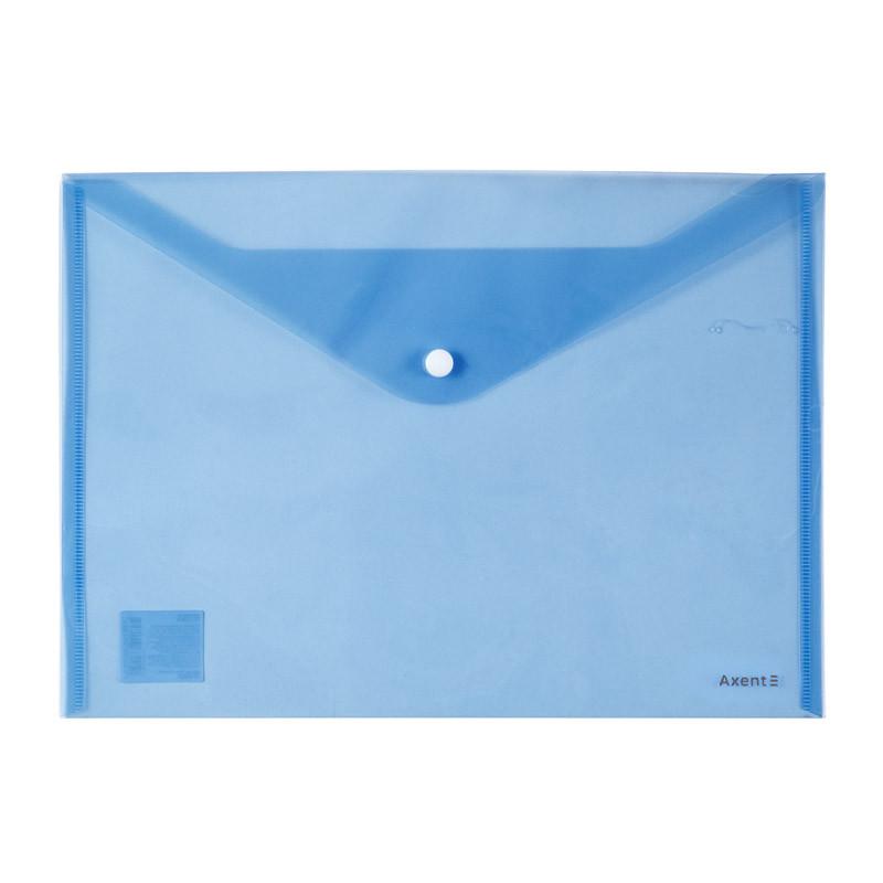 Папка Axent на кнопке А4, синяя