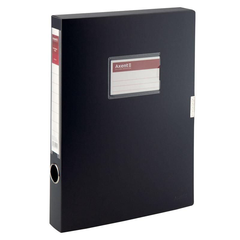Папка-коробка Axent 36 мм, черная
