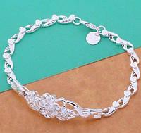 Посеребрённый стильный браслет 925 Ленора, фото 1