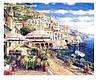 """Картина по номерам """"Красочная Сицилия"""" 40*50см,крас.-акрил,кисть-3шт.(1*30) (9443)"""