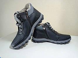 Чоловічі черевики зимові, штучний нубук 42