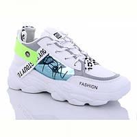 Жіночі кросівки білі на танкетці екокожа демі, фото 1