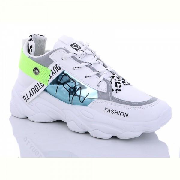 Жіночі кросівки білі на танкетці екокожа демі