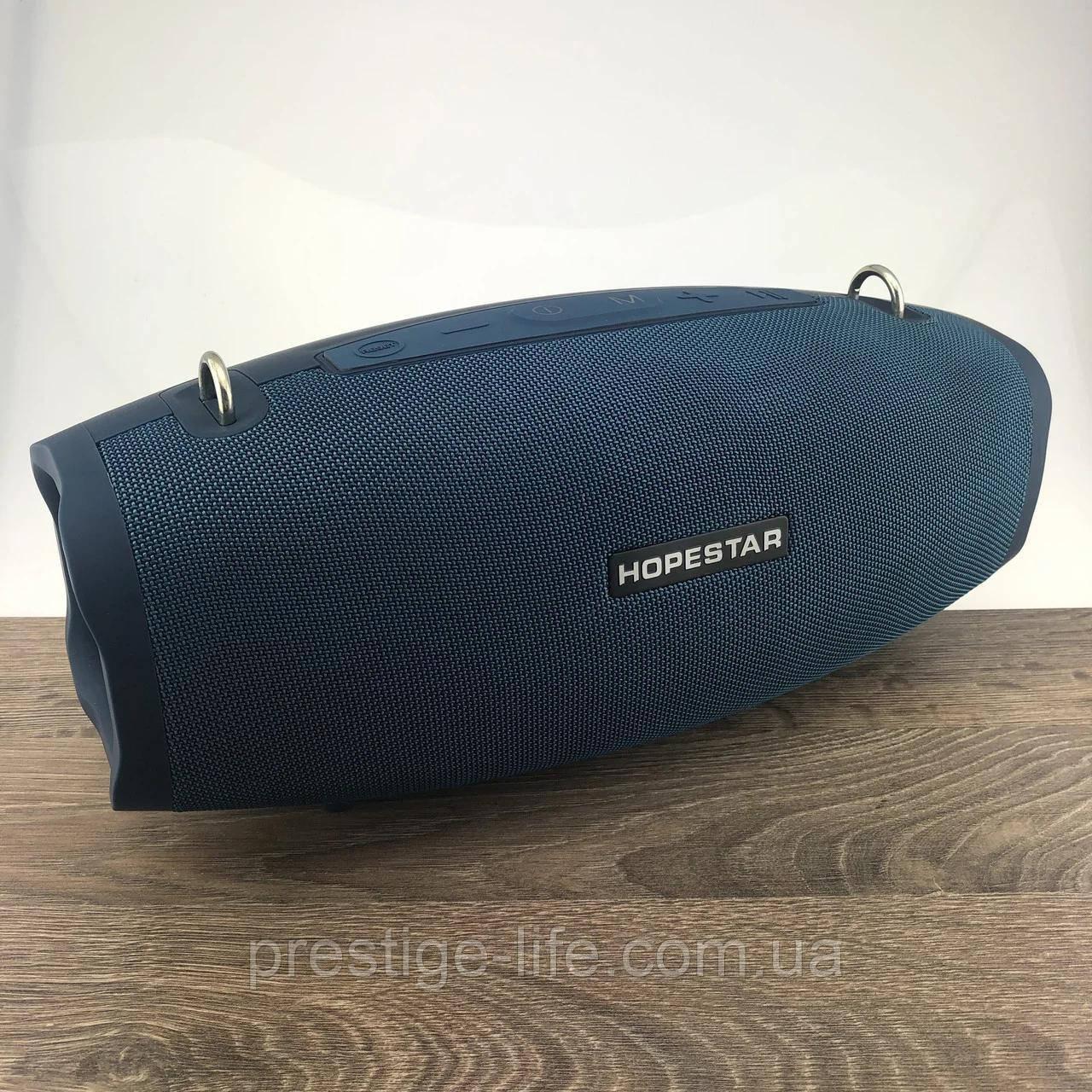 Hopestar X Bluetooth Колонка (с микрофоном) портативная колонка Hopestar X ( 40Вт реальных) Синий цвет