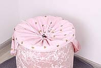 """Корзина для игрушек """"Мраморный велюр розовый"""", фото 2"""