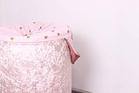 """Корзина для игрушек """"Мраморный велюр розовый"""", фото 4"""