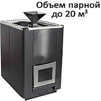 Печь банная, с испарителем, без выноса, дверь со стеклом, н/ж PI-20S (20кВт)