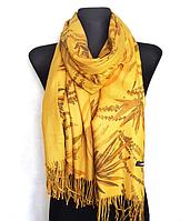 Кашемировый палантин Регина 180*60 см желтый