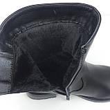 Женские черные сапоги теплые зимние, фото 4