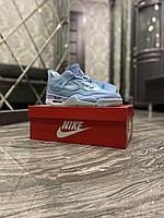 Мужские кросовки Nike Air Jordan 4 Retro Light Blue
