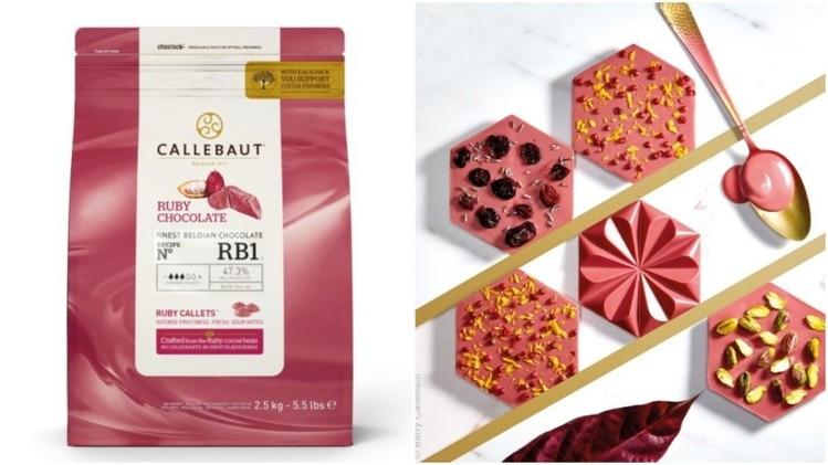 """Шоколад """"Ruby Callebaut"""" , каллеты 100 грамм"""