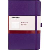 Книга записна Partner, 125*195, 96арк, кліт, фіолетова