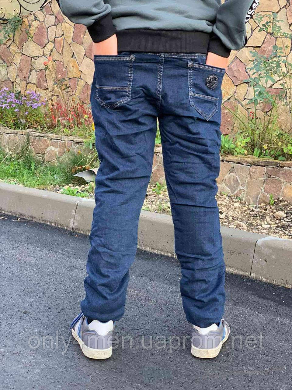 Джинсы для мальчиков на флисе  на рост 110-134 см
