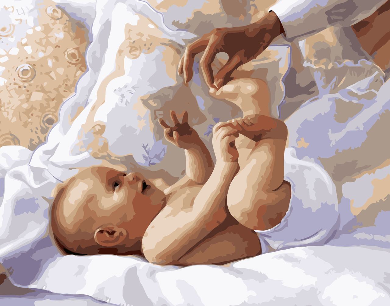 Картина по номерам VA-0928 Младенец 40х50см Strateg