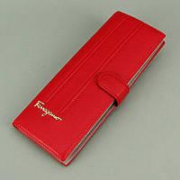 Визитница (40 шт.) кожаная женская красная 4387, фото 1