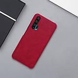 Nillkin Huawei Honor 20 Pro Qin leather case Red Чехол Книжка, фото 6